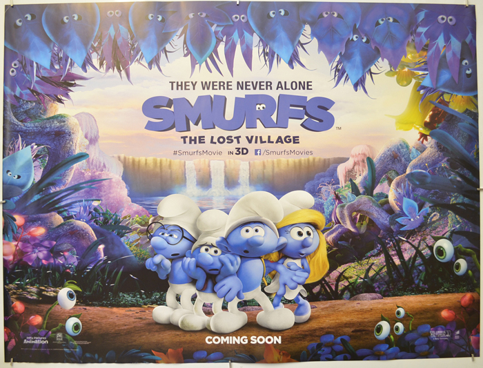 Smurfs The Lost Village P I Teaser Advance Version I P Original Cinema Movie Poster From Pastposters Com British Quad Posters And Us 1 Sheet Posters