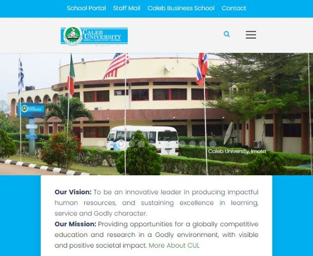 Caleb University Post UTME Past Questions and Answers