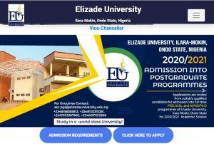 Elizade University Cut-Off Mark
