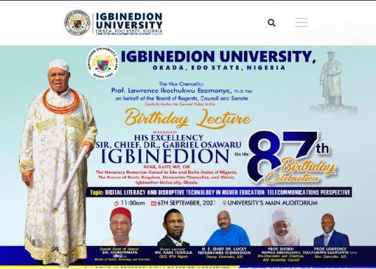 Igbinedion University Cut-Off Mark