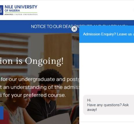 Nile University Post UTME Past Questions and Answers
