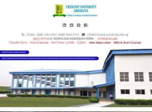 Crescent University Cut-Off Mark