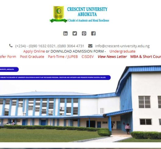Crescent University Post UTME Past Questions and Answers