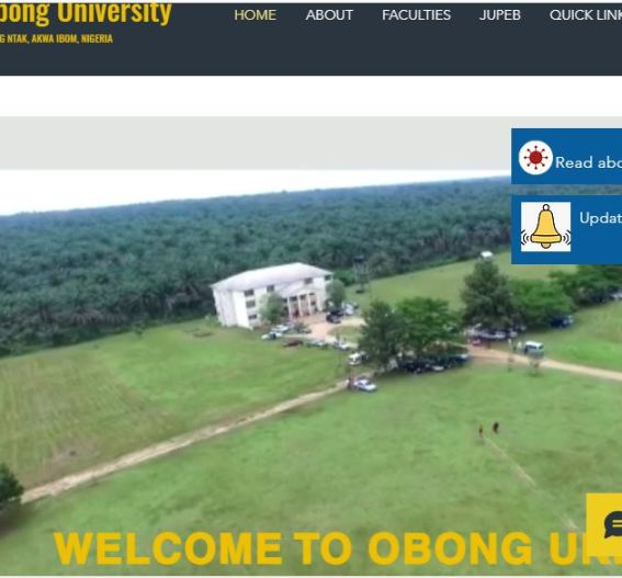 Obong University Post UTME Past Questions and Answers