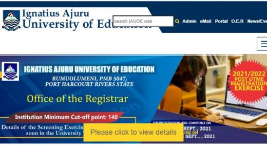 IAUE Cut Off Mark for all Courses and Departments