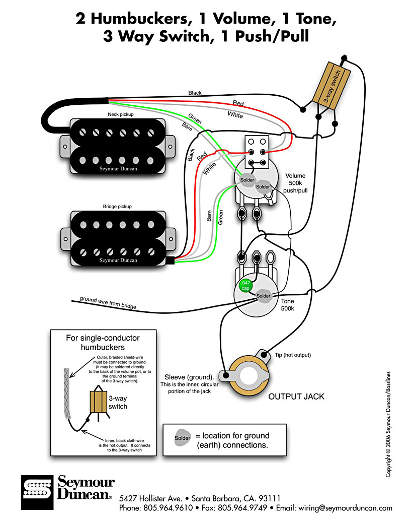 Wiring Diagram Seymour Duncan Blend Pot