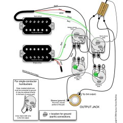 Guitar Wiring Diagram 2 Pickup 1 Volume Tone Block Mountains H-h-2vol.-2ton-3pos. | Pastrana Guitars