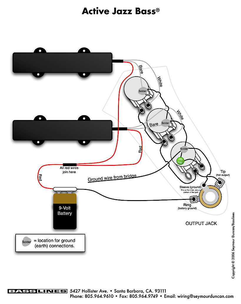 emg active pickup wiring diagram whelen led lightbar activo | pastrana guitars