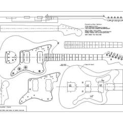 Gibson Wiring Diagrams 5 1 Rotation Diagram Planos Fender 62 Jazzmaster | Pastrana Guitars