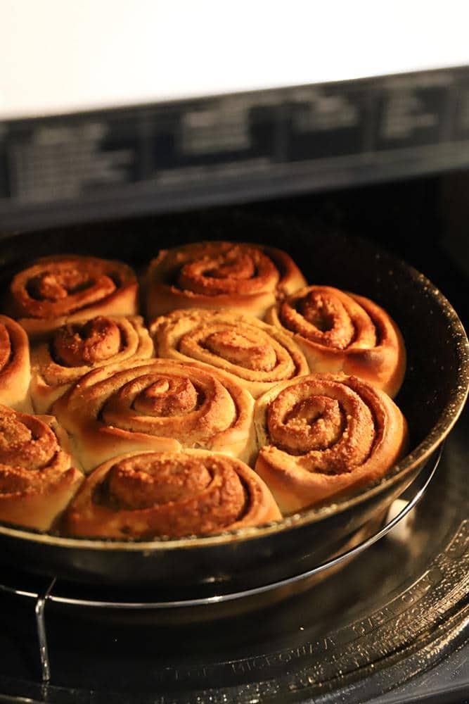cinnamon rolls maison dans le four samsung home