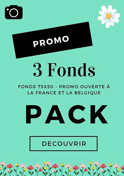 promotion sur les fonds photo