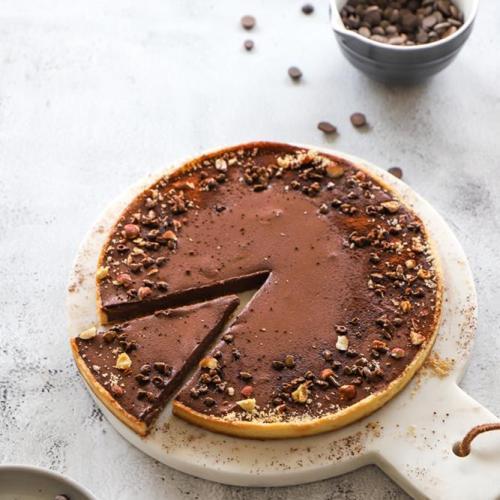 tarte chocolat poire vegan