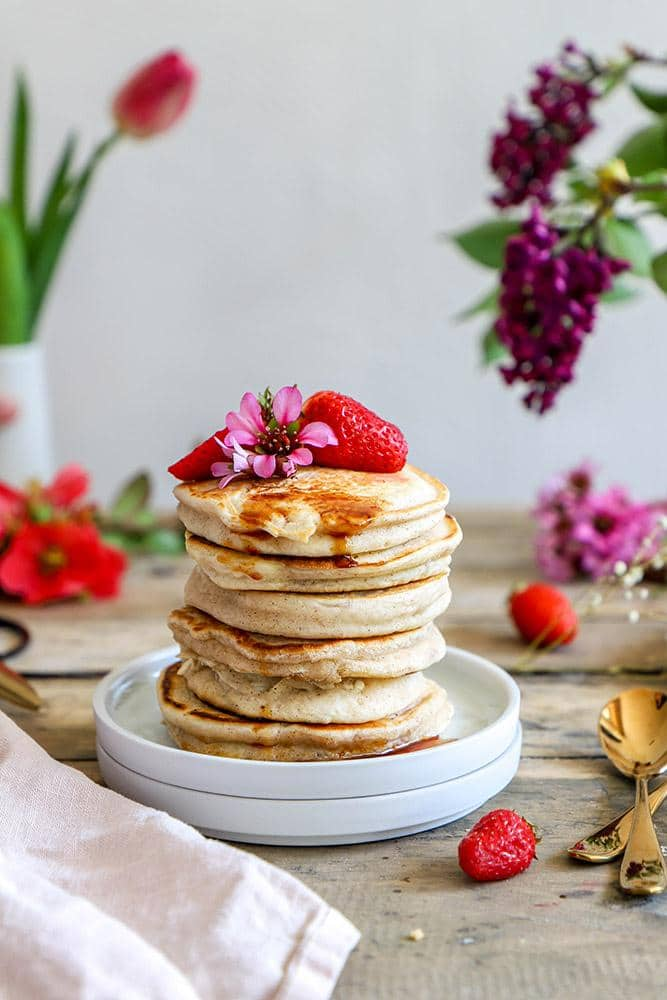 pancakes fluffy vegan
