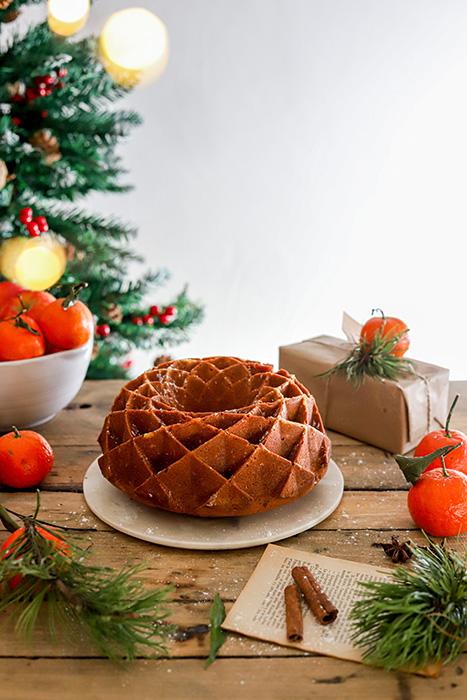 recette du bundt cake clementines et épices chai , recette de noel , sans lactose