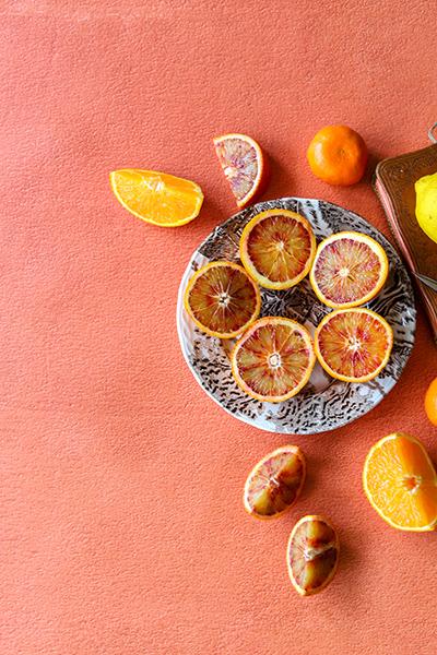 fond photo culinaire terracotta orange type terre battue, photo produit, fond vinyle lavable