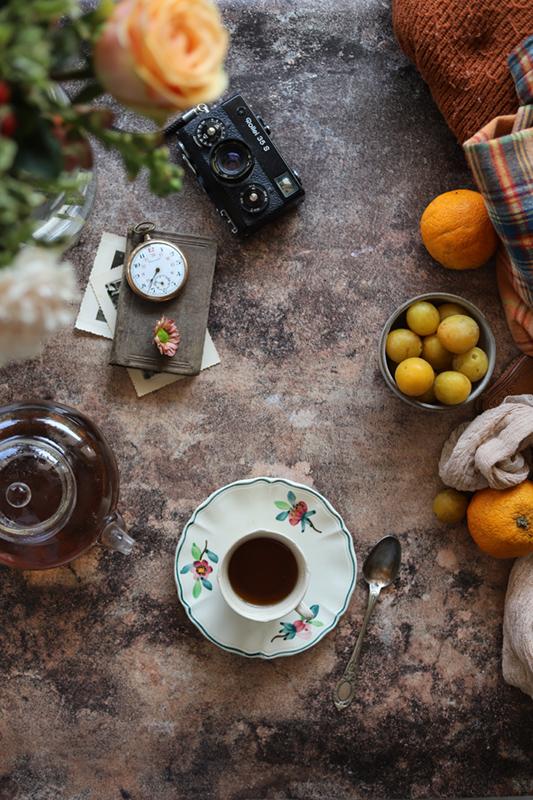 fond photo béton marron automne