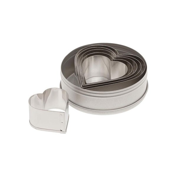 Ateco 7804 Plain Heart Stainless Steel Cookie Cutter