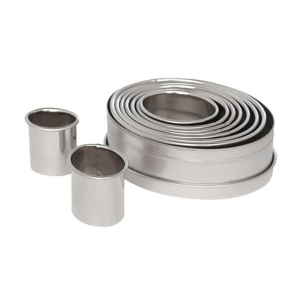 Ateco 5254 Plain Oval Stainless Steel Cookie Cutter