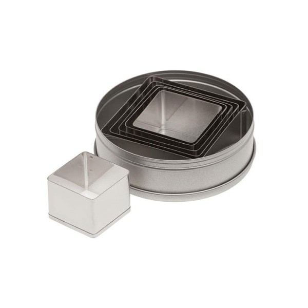 Ateco 5253 Plain Square Stainless Steel Cookie