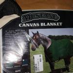 Horse blanket canvas