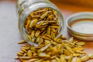 Duck Fat and Rosemary Roasted Pumpkin Seeds