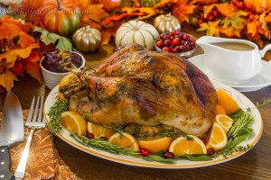 Herb Roasted Turkey and Gravy with Citrus Cranberry Sauce