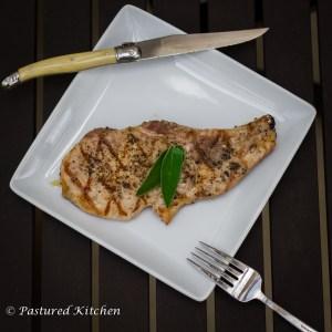 Vanilla Sage Grilled Pork Chop