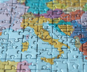 Puzzle map: Rom and Italy macro