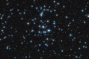 Real astronomic picture taken using telescope, it is an open stars cluster known as praesepe, in cancer constellation