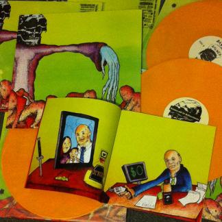 Bastard Noise+Kalmex & Riff Merchants – Ultra Sonic Holocaust LP