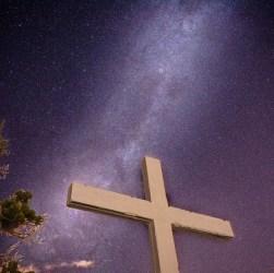 Foto nocturna en el Cerro Amigo