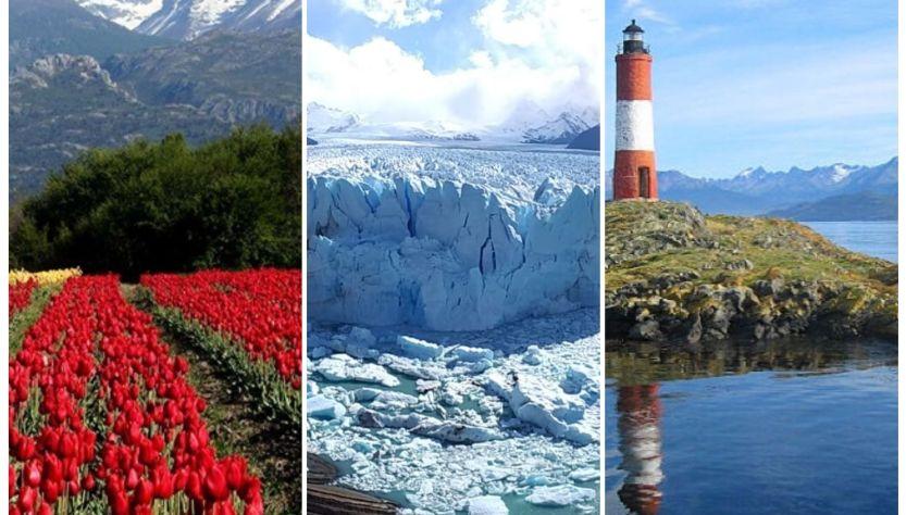 Chubut, Santa Cruz y Tierra del Fuego.