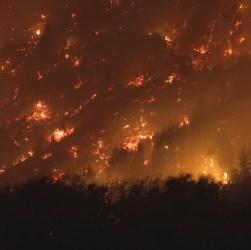 Fuego en la Comarca Andina