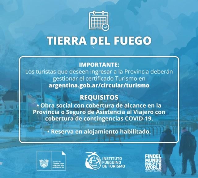 Requisitos para ingresar a Tierra del Fuego