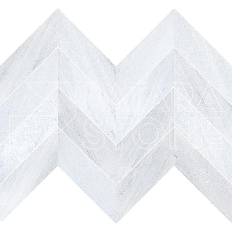 solto white 4x16 chevron honed patara