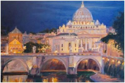 """Vatican Dawn"" Oil 24""X36""Commission"