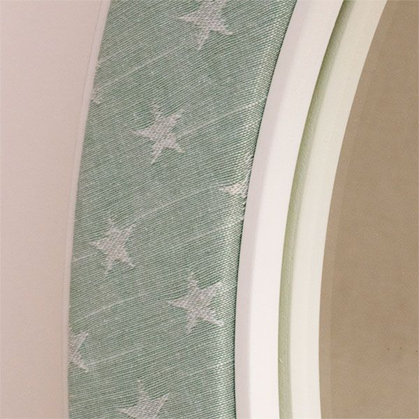 Close Up Photo of the Frame of the Ella Seafoam Fabric with Stars