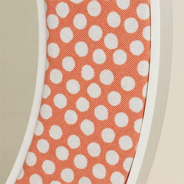 Maggie Orange Fabric Close Up