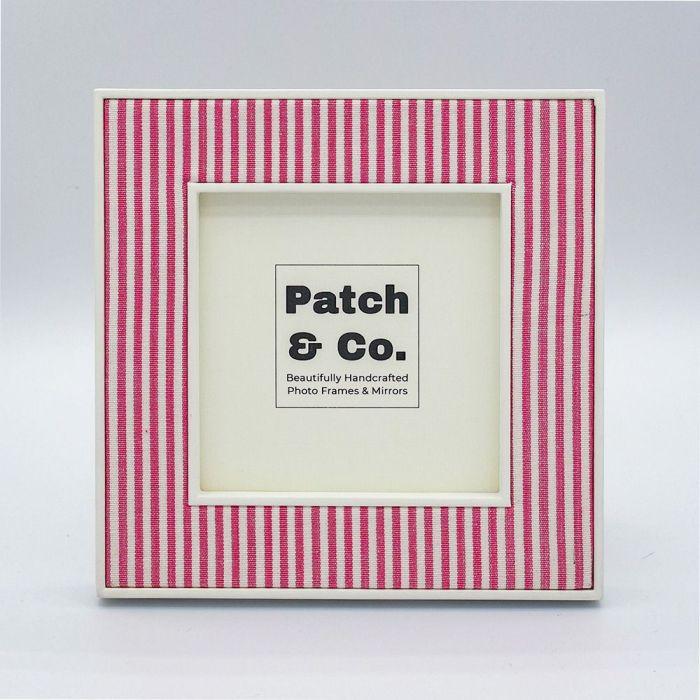 Alice Square Pink Striped Photo Frame