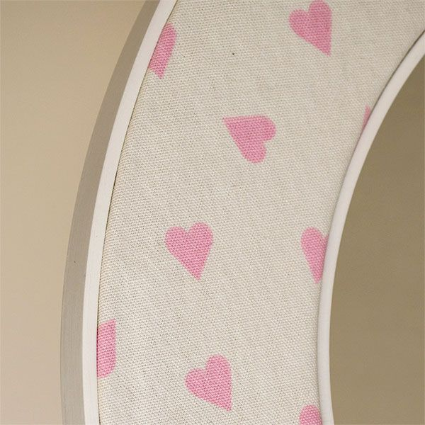 Close Up of the Heart Mirror Fabric