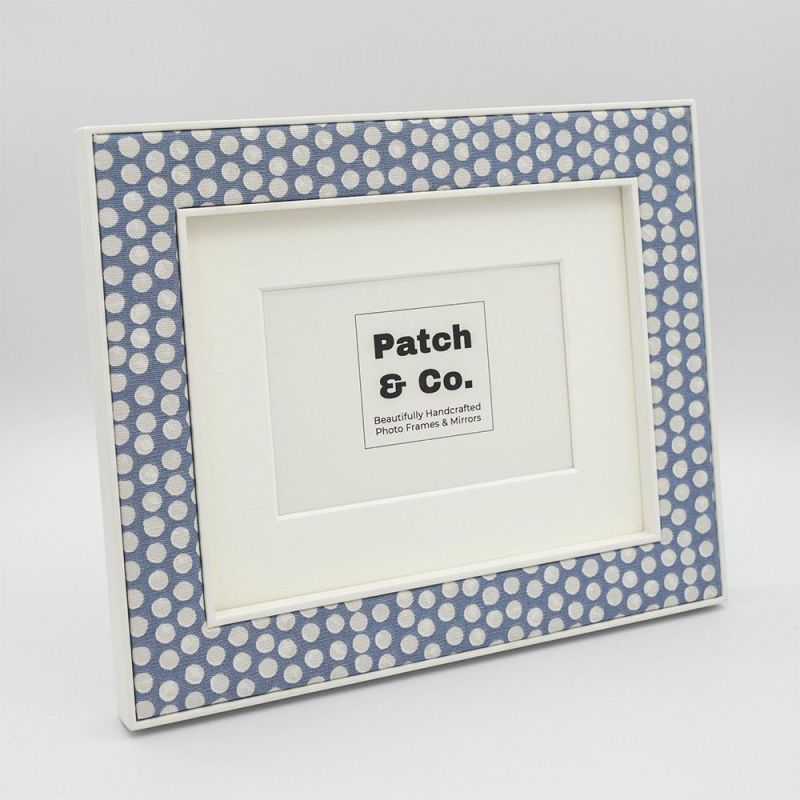 The Maggie in Blue Photo Frame with mount