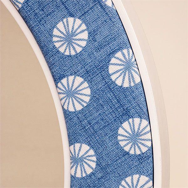 Octavia Blue Contemporary Fabric Close Up