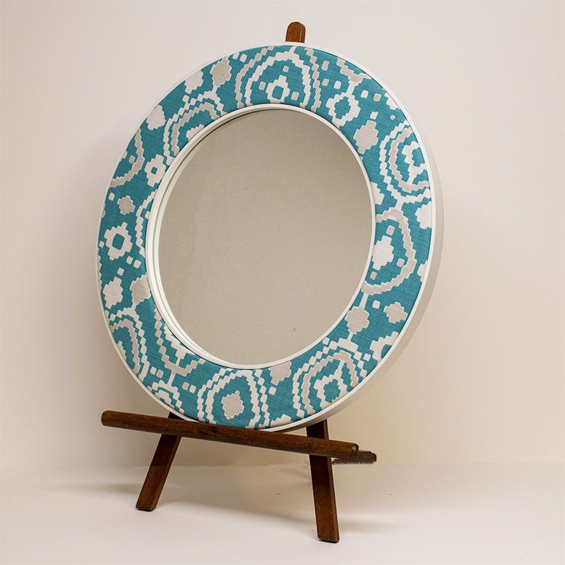 The Patch Mirror in Green on an Easel