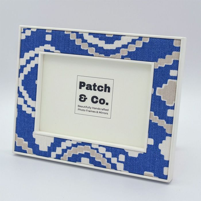 Patch Blue Fabric 7 x 5 Photo Frame