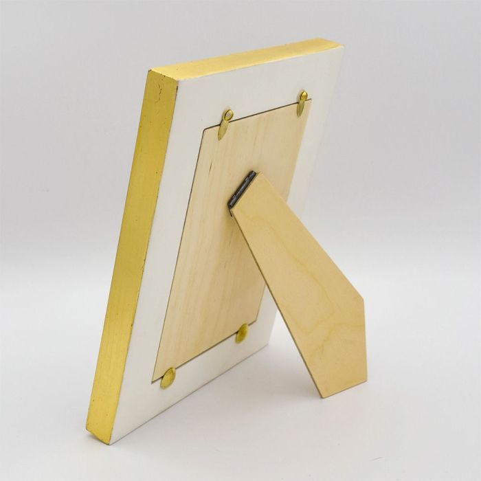 Back of Gold Framed Square Photo Frame