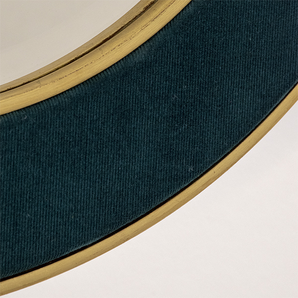 The Patrick Mirror in Dark Teal with plain mirror glass - close up photo