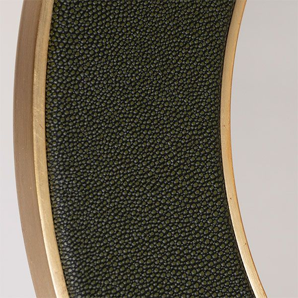 Close up of the Faux Shagreen Otis Mirror