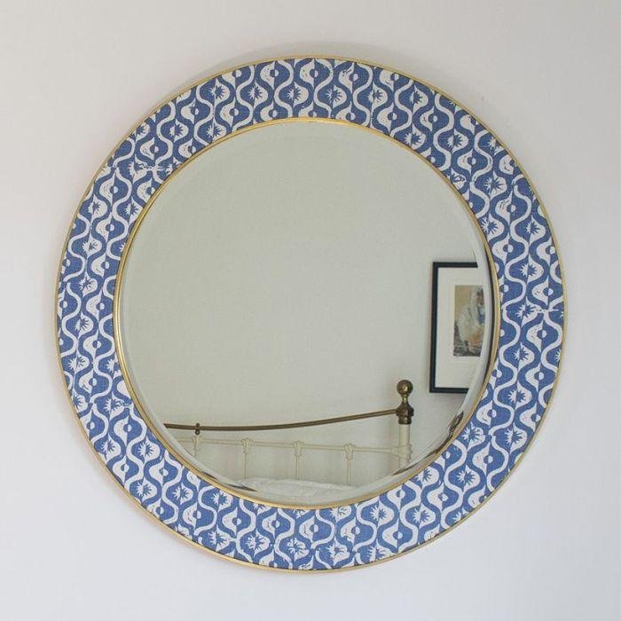 A Bespoke Blithfield Blue Mirror