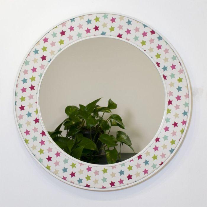 Oliver Round Mirror in Pink