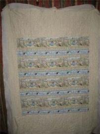 View of quilt back.